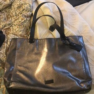 Metallic Faux Leather Kenneth Cole Tote